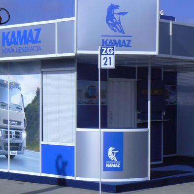 Stoisko targowe dla firmy Kamaz