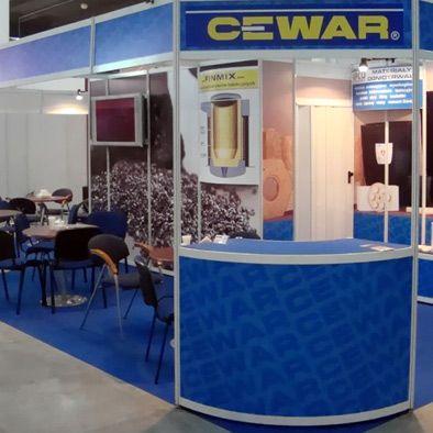 Stoisko targowe dla firmy Cewar
