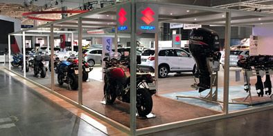 Stoisko targowe dla firmy Suzuki